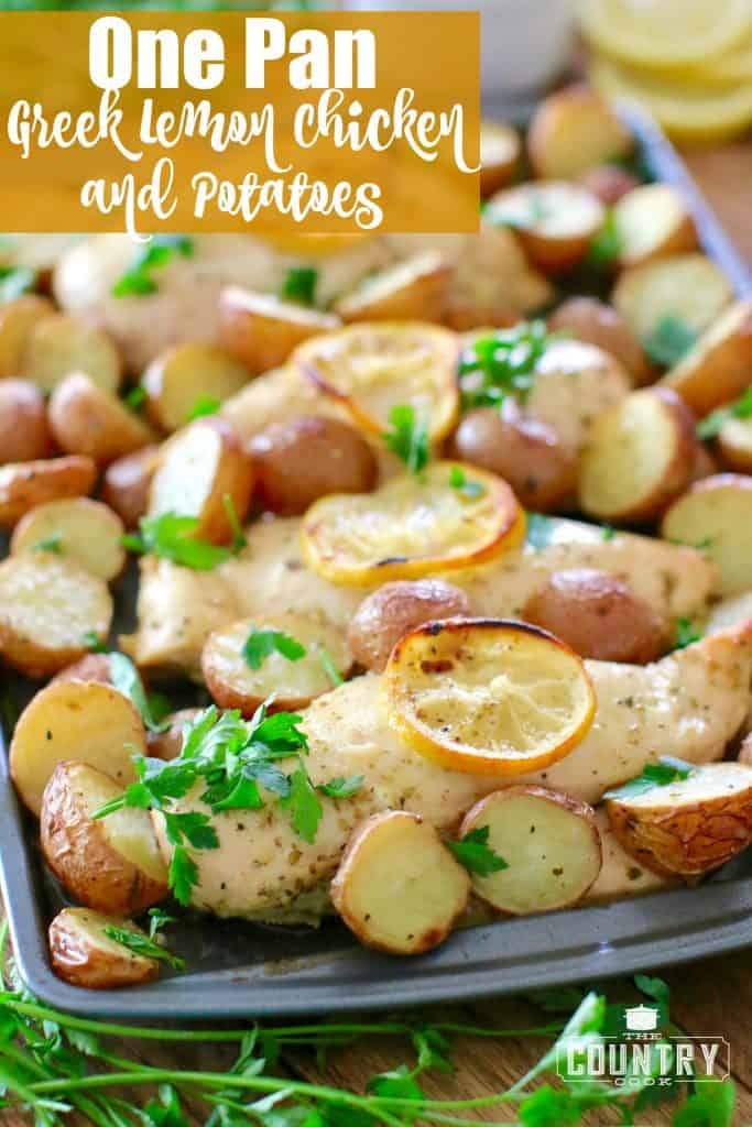 One Pan Greek Lemon Chicken and Potatoes
