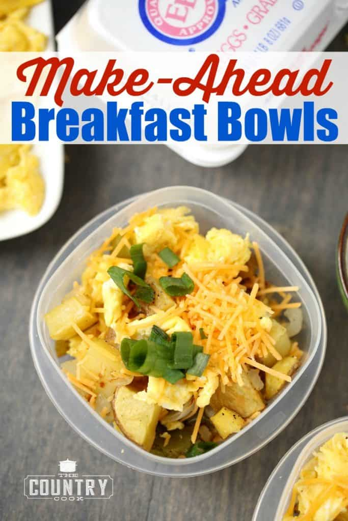 Make Ahead Breakfast Bowls