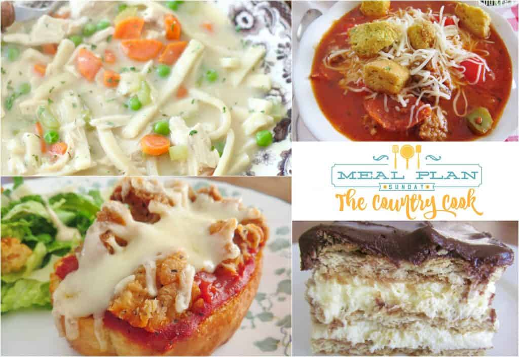 Meal Plan Sunday at The Country Cook
