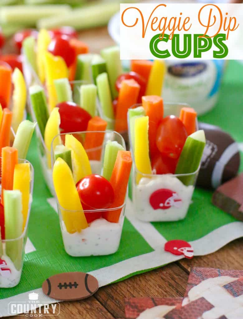 Veggie Dip Cups recipe from The Country Cook