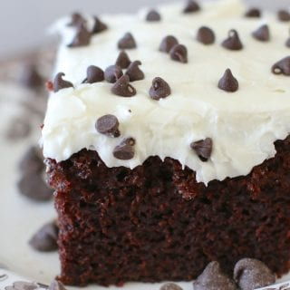 One Bowl Chocolate Cake with Creamy Frosting