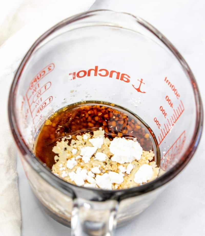 combine brown sugar, soy sauce, ginger, garlic, vinegar and cornstarch in a bowl