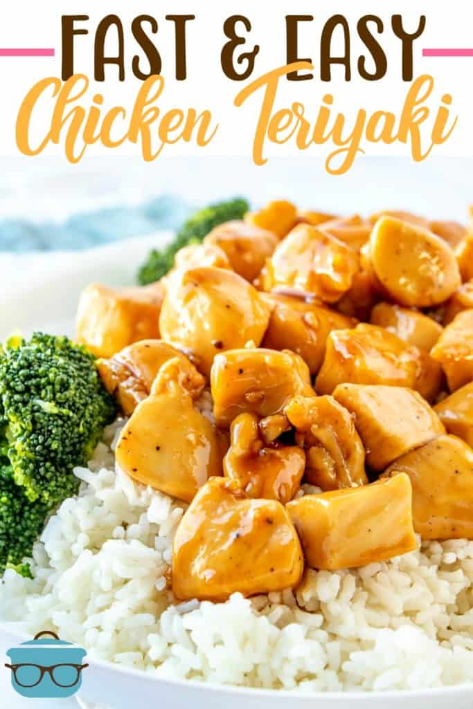 Fast and Easy Chicken Teriyaki (with homemade teriyaki sauce!) recipe from The Country Cook