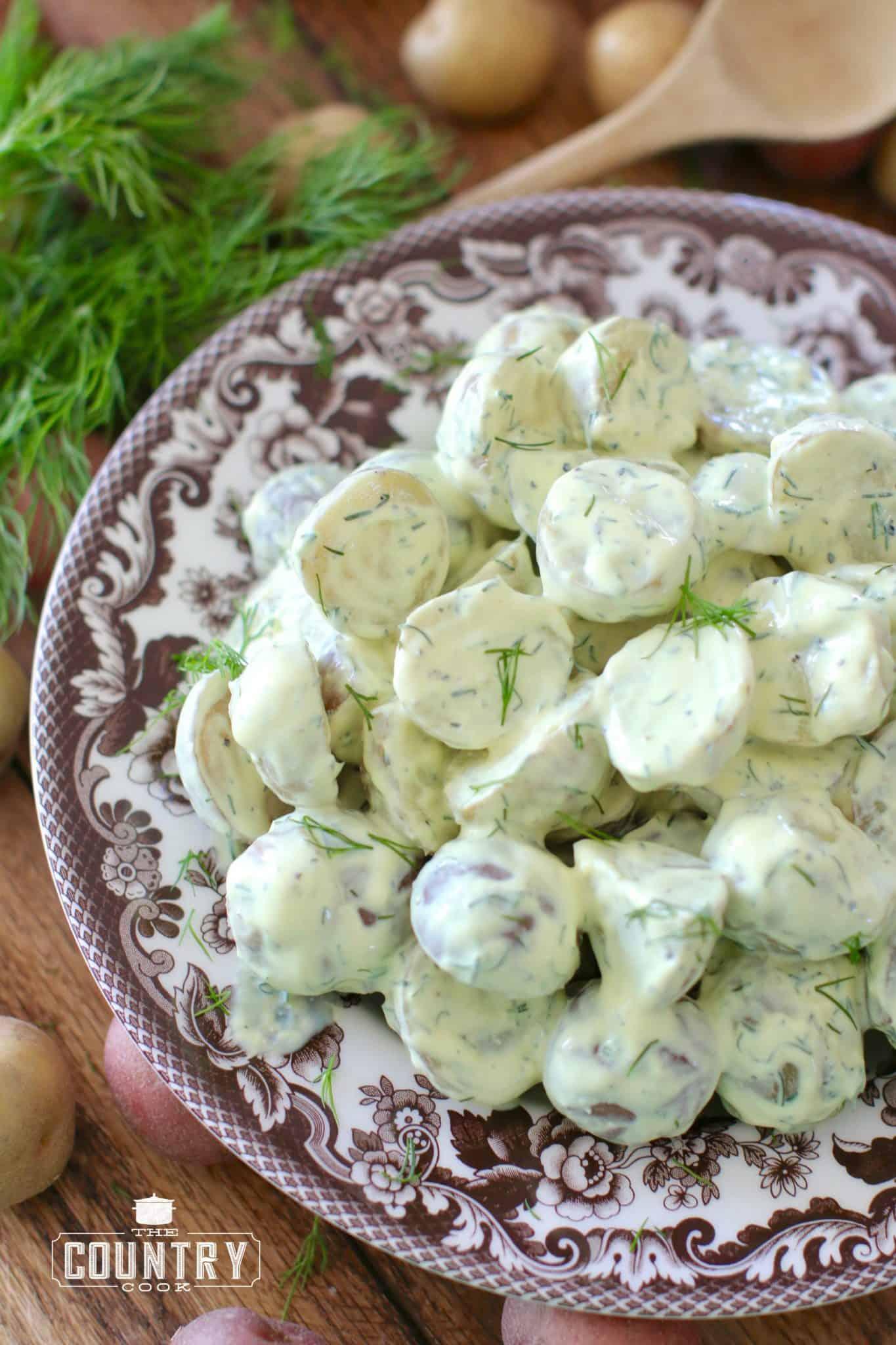 Greek Yogurt Dill Potato Salad - The Country Cook