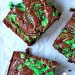 Mint Chocolate Chip Swirl Brownies