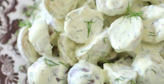 Greek Yogurt Dill Potato Salad