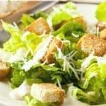 Homemade Caesar Salad Dressing & Homemade Croutons