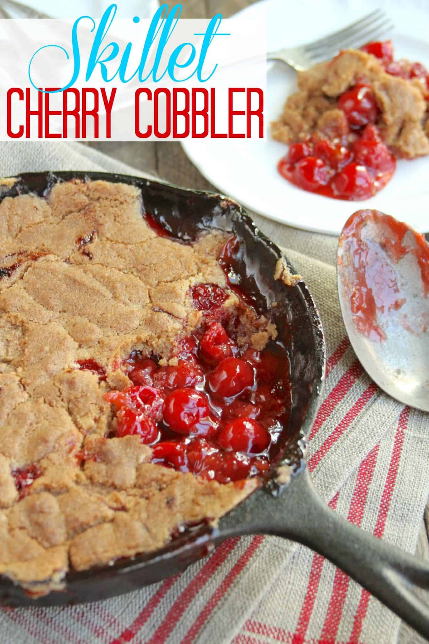 Skillet Cherry Cobbler The Country Cook