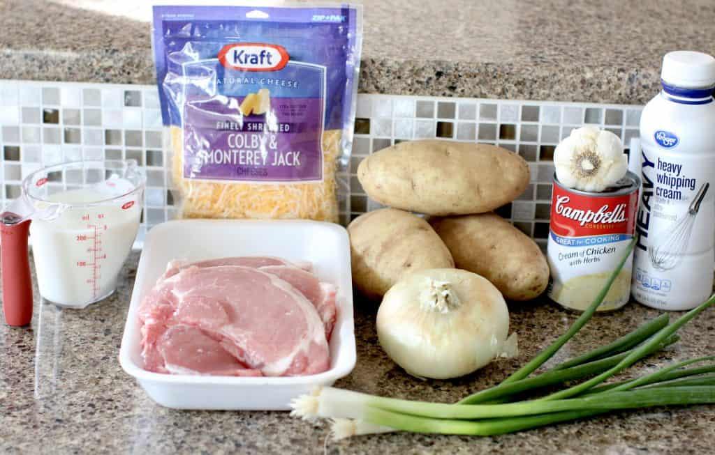 Crock Pot Smothered Pork Chops and Potatoes