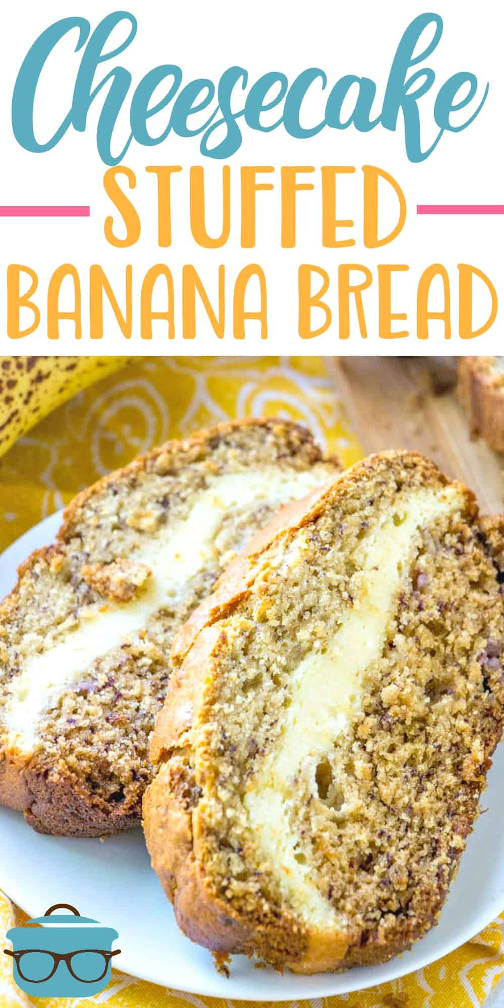 Cheesecake Stuffed Banana Bread is an easy homemade banana bread recipe that has a ribbon of cheesecake going through the middle. Amazing! #bananabread #cheesecakebananabread