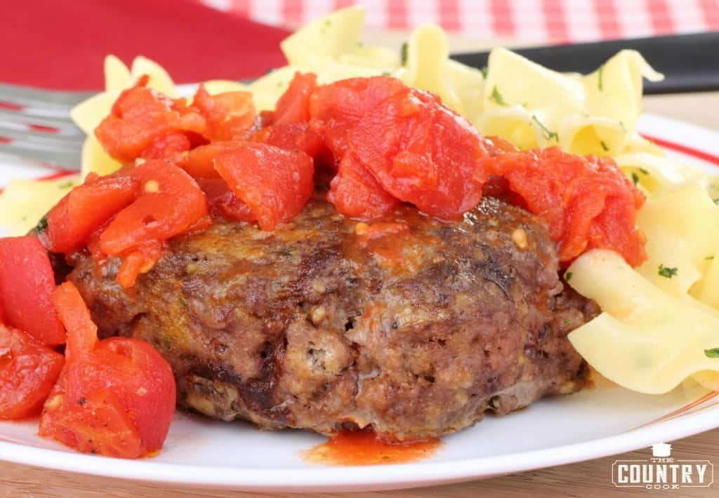 Hamburger Steaks with Tomato Gravy