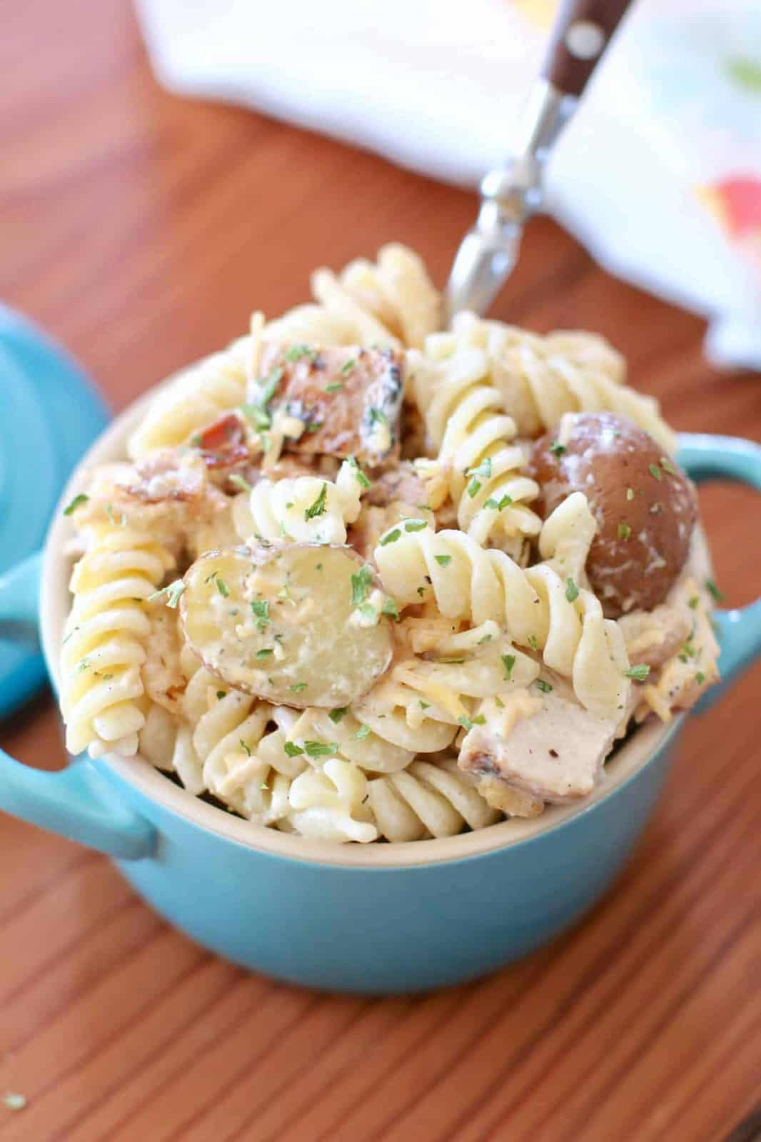 Chicken Bacon Ranch Pasta Potato Salad