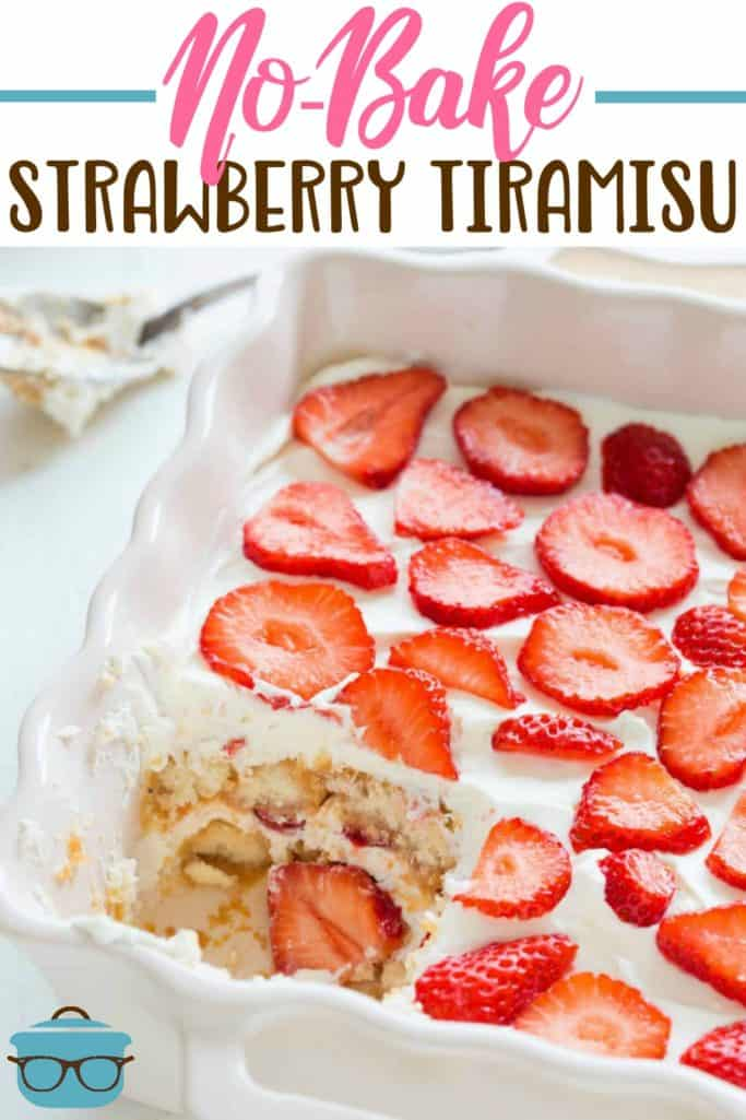 No Bake Strawberry Tiramisu recipe from The Country Cook