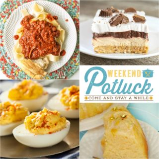 Chicken and Dressing Casserole ~ Weekend Potluck #269