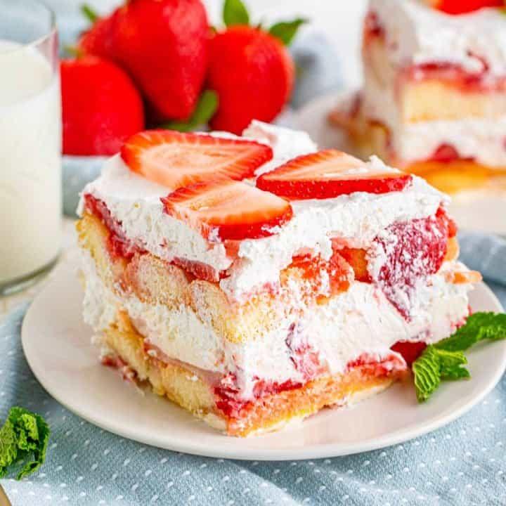 Strawberry Tiramisu Dessert recipe from The Country Cook