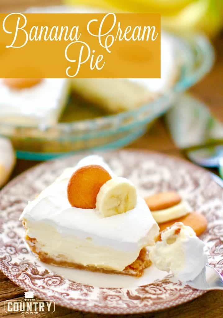Banana Cream Pie recipe from The Country Cook