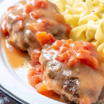 Hamburger Steaks with Tomato Gravy recipe
