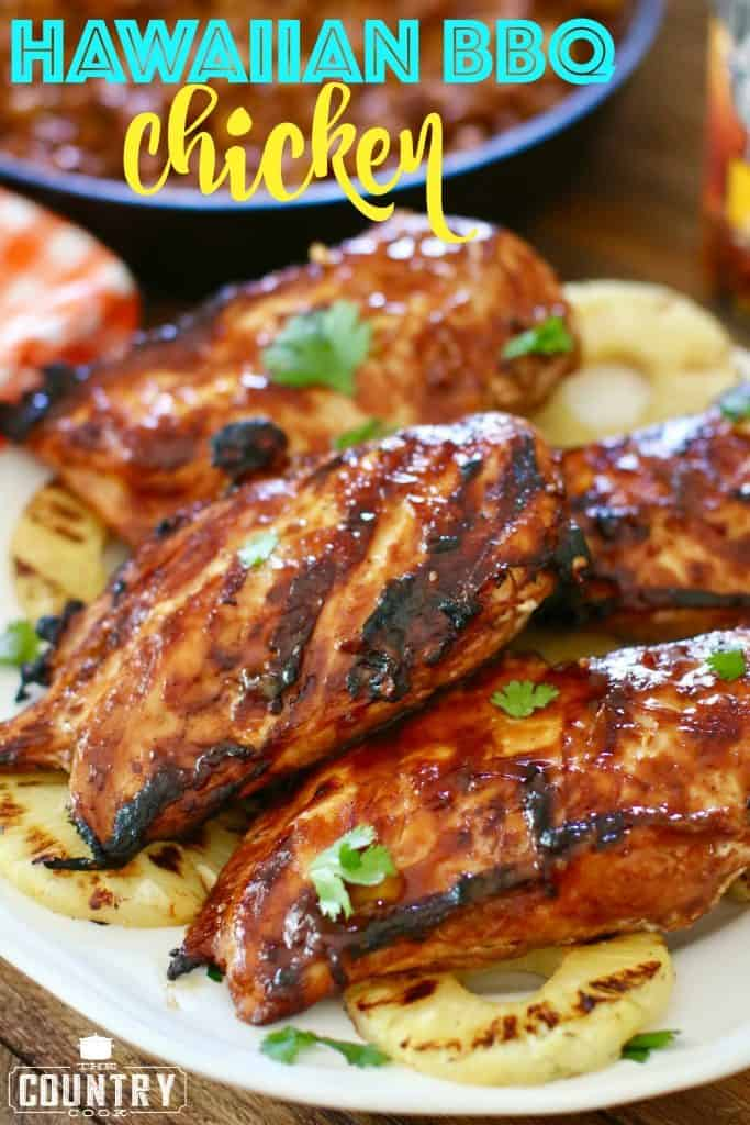 Grilled Hawaiian BBQ Chicken recipe from The Country Cook
