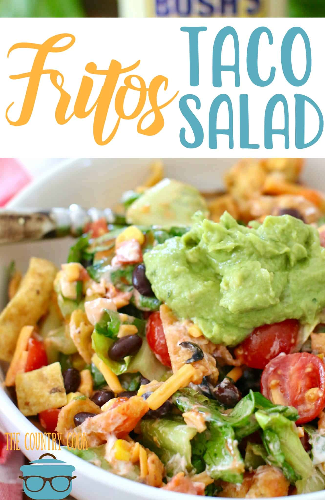 Veggie Fritos Taco Salad recipe from The Country Cook #vegetarian #healthy