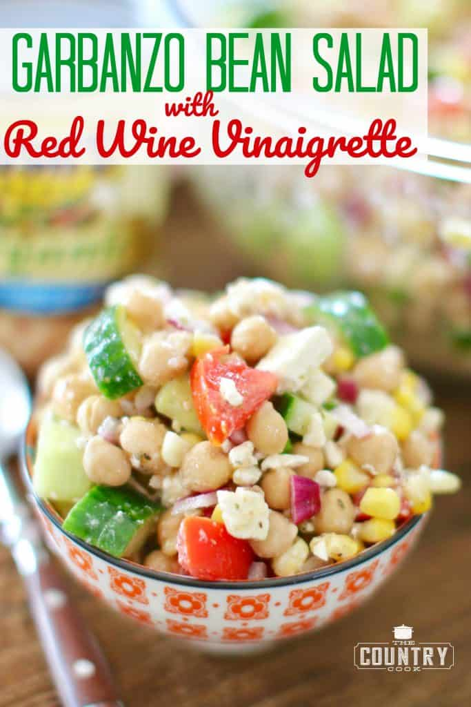Garbanzo Bean Salad with Red Wine Vinaigrette