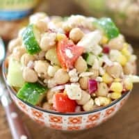 Garbanzo Bean Salad with Red Wine Vinaigrette recipe