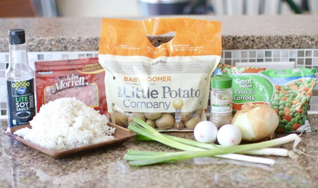 Potato and Ham Fried Rice
