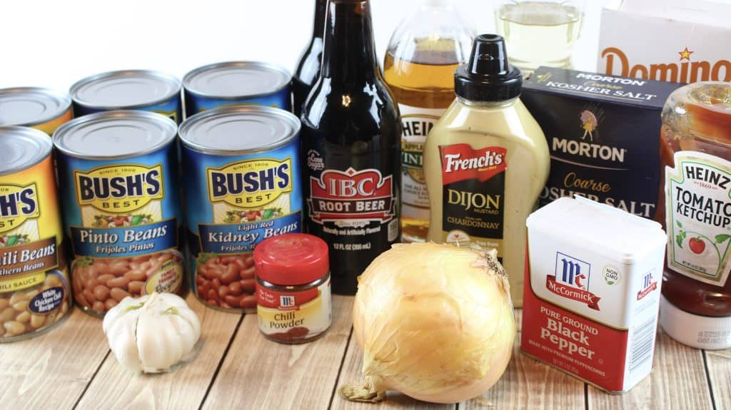 Root Beer Baked Beans, ingredients