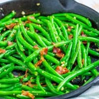 Bacon Garlic Green Beans recipe from The Country Cook