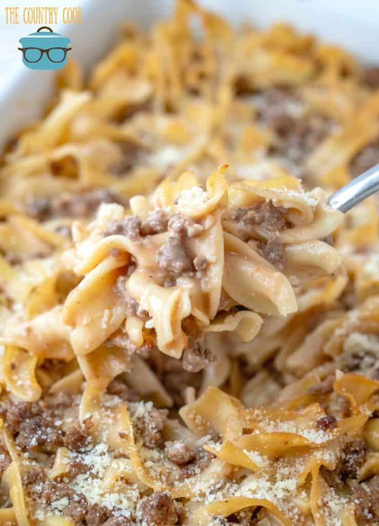 Egg Noodle Ground Beef Casserole recipe