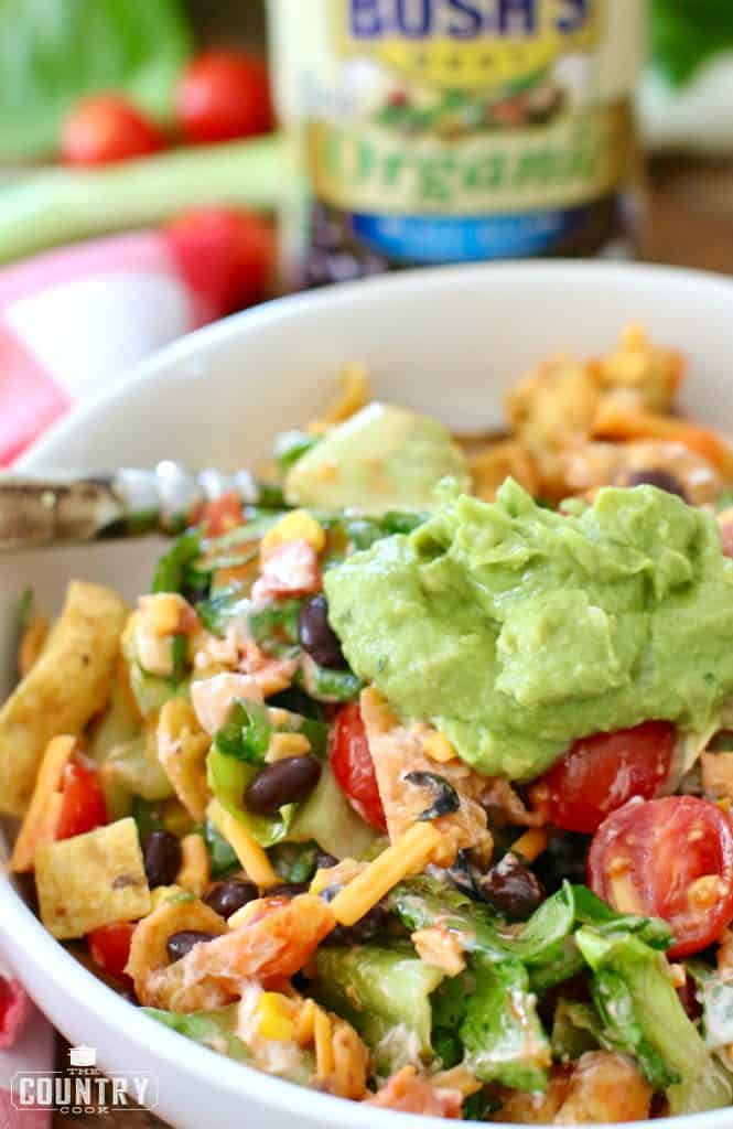 Vegetarian Taco Salad recipe from The Country Cook