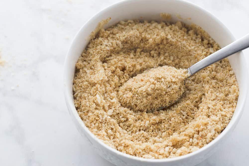 bread crumbs with melted butter