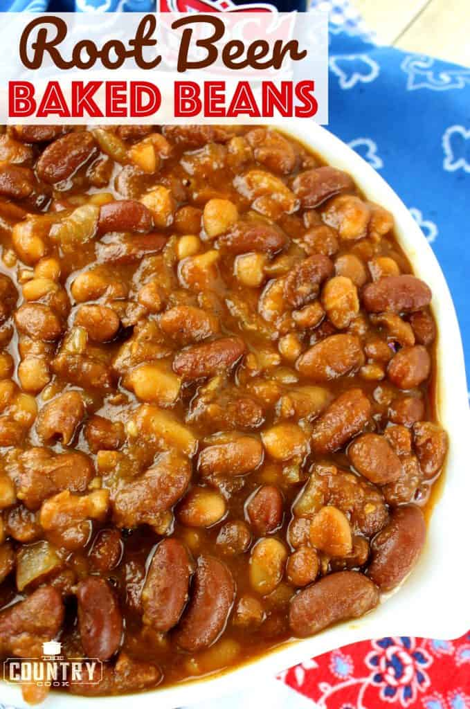 Root Beer Baked Beans recipe from The Country Cook