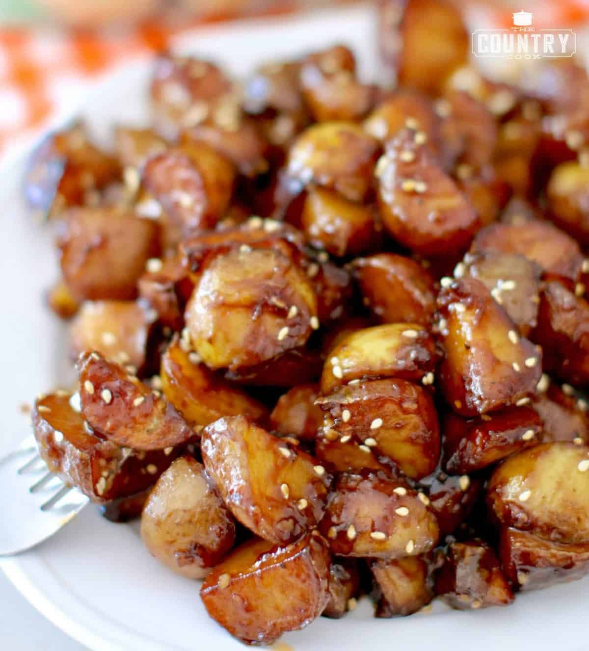 Sticky Potatoes - The Country Cook  Sticky Potatoes...