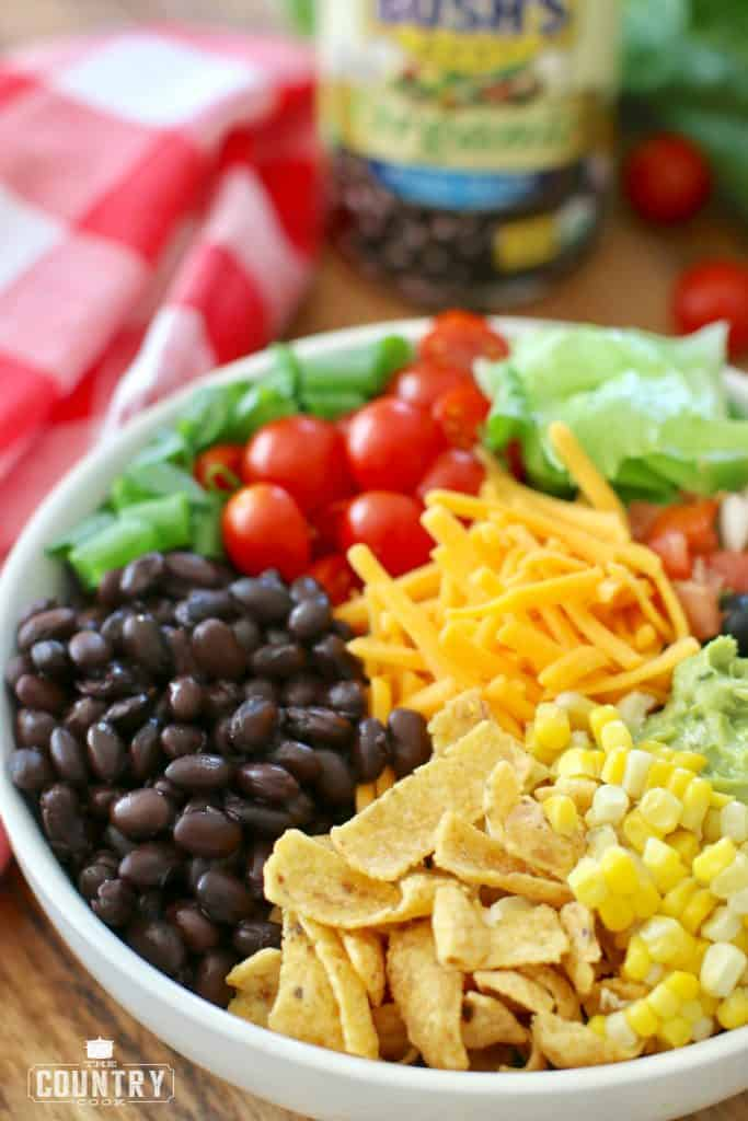 Vegetarian Taco Salad in a bowl
