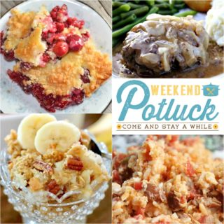 Easy Cherry Crisp ~ Weekend Potluck #282