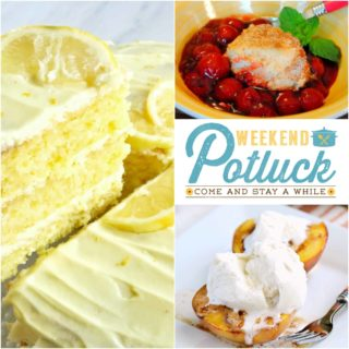 Easy Lemon Layer Cake ~ Weekend Potluck #281