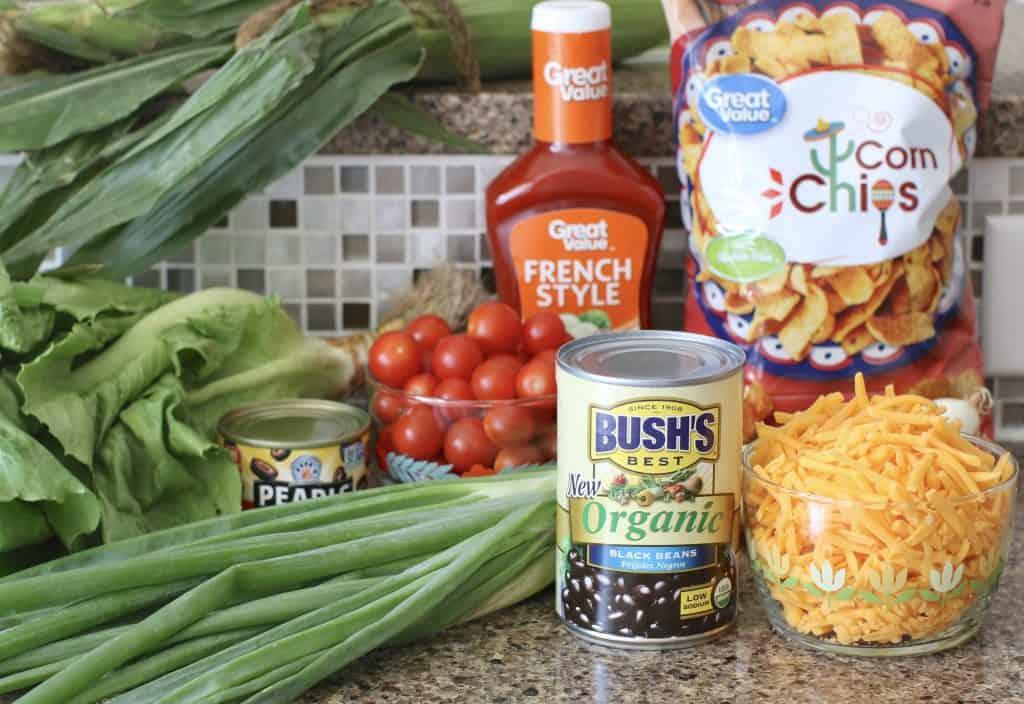 Ingredients for Vegetarian Taco Salad