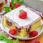 Lemon Raspberry Poke Cake recipe