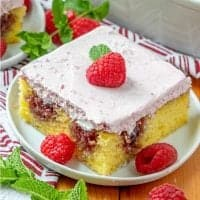 Lemon Raspberry Poke Cake recipe