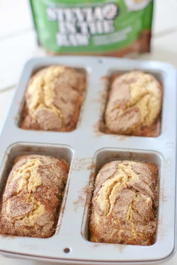 four mini loaves, baked, Amish Friendship Bread