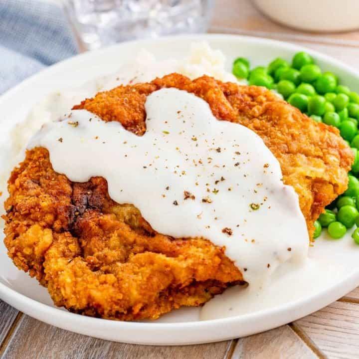 Chicken Fried Steak with White Gravy