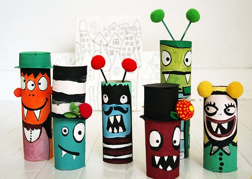Toilet Paper Roll Monsters Craft from Alisa Burke