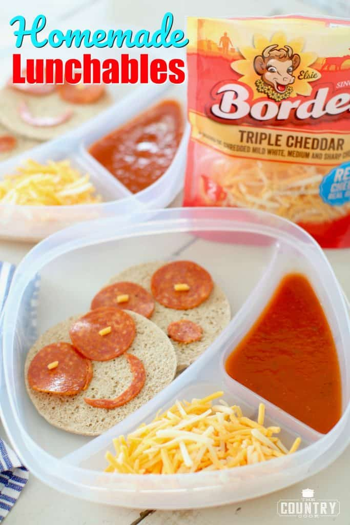 Homemade Pizza Lunchables recipe from The Country Cook