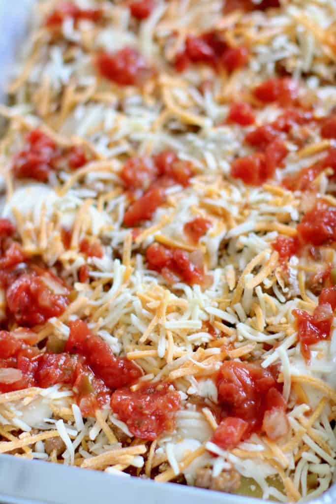salsa and shredded cheese