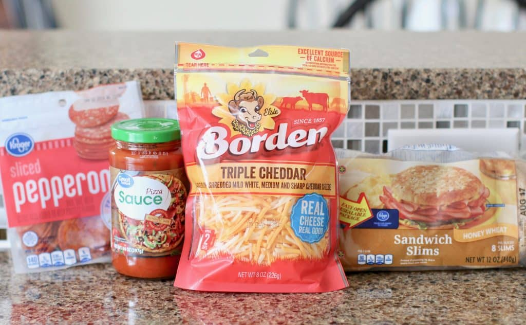 ingredients for homemade pizza lunchables
