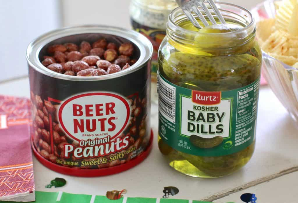 beer nuts and pickles