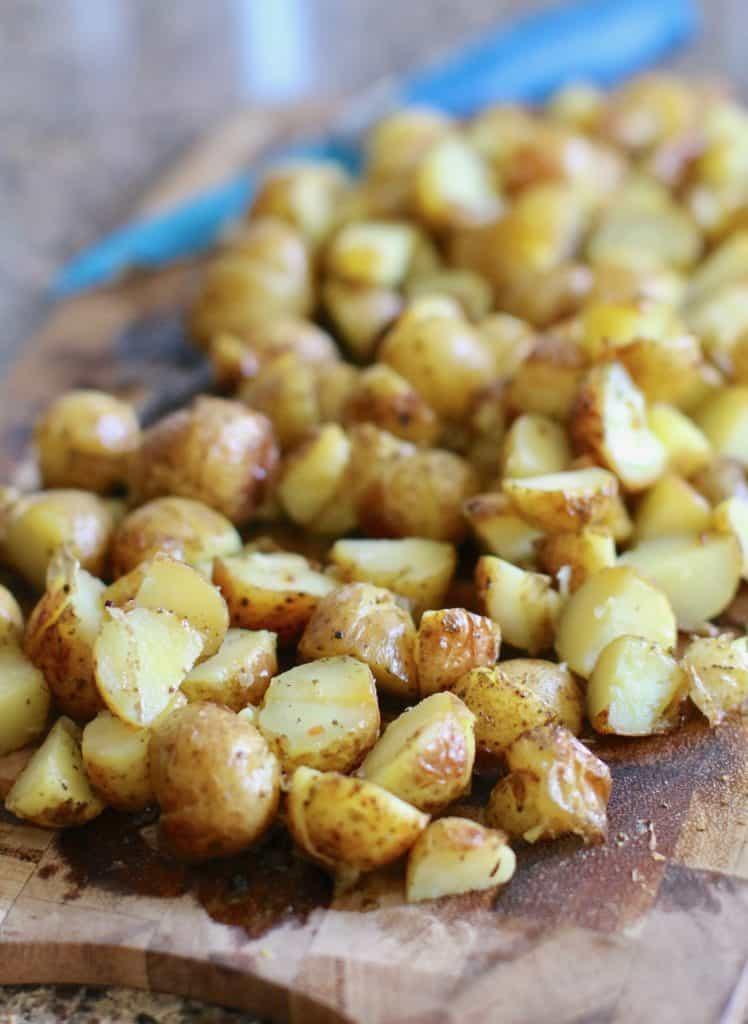 diced onion roasted potatoes
