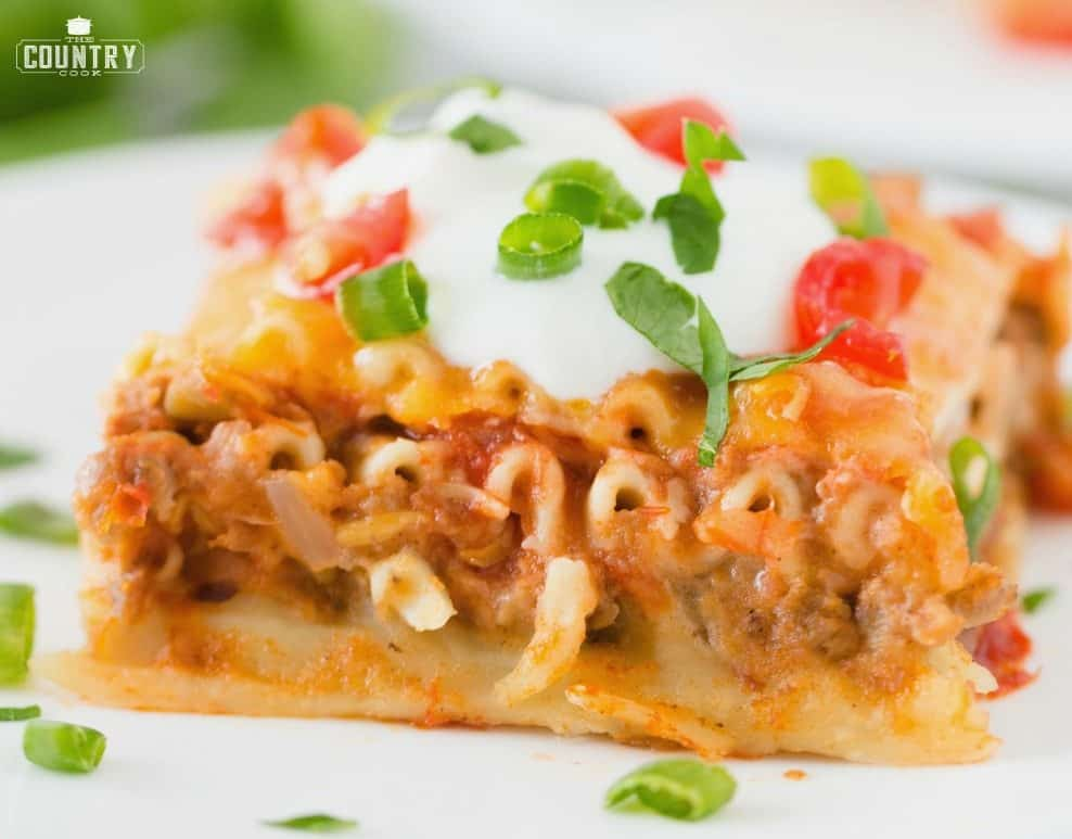 Slice of Mexican Lasagna