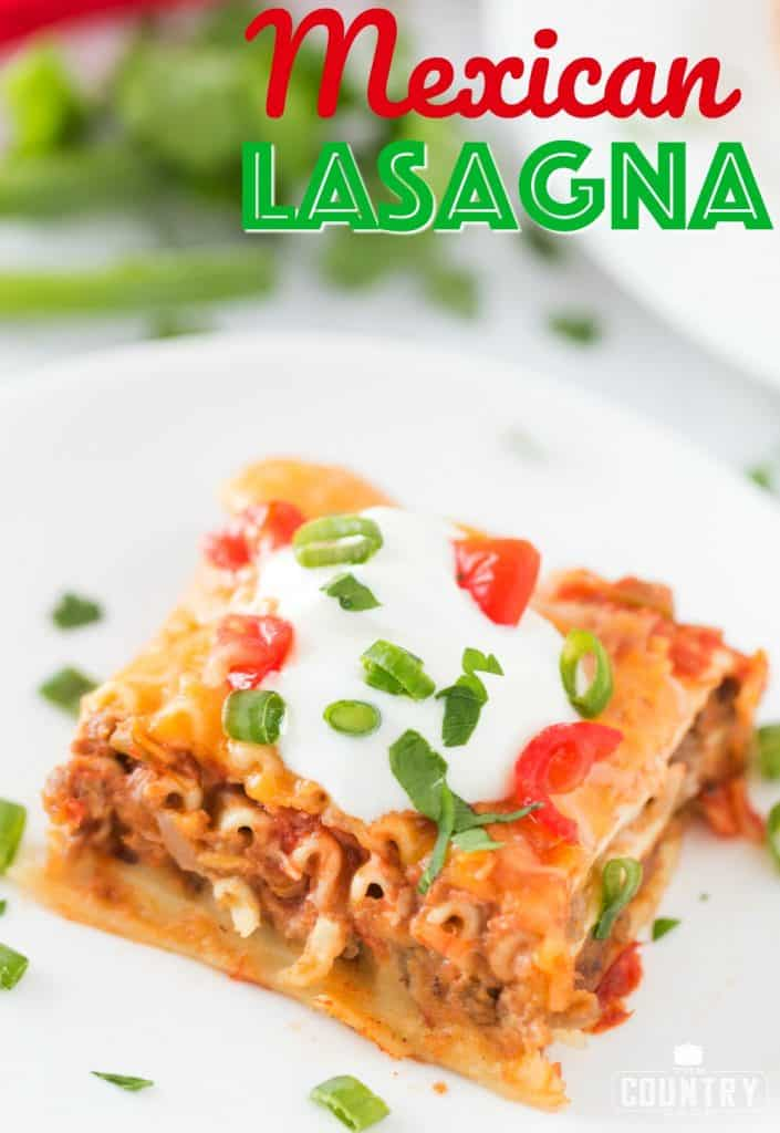 Mexican Lasagna recipe from The Country Cook