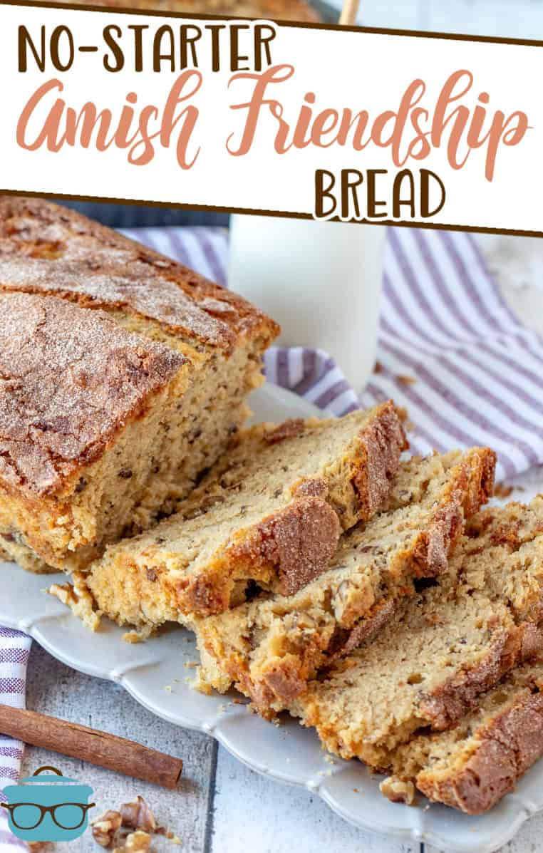 With this recipe for No-Starter Amish Friendship Bread, there is all the flavor of a traditional Amish Friendship Bread but none of the wait!